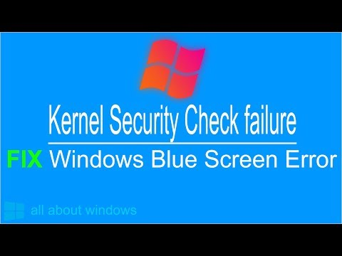 kernel security check failure windows 10 wont boot