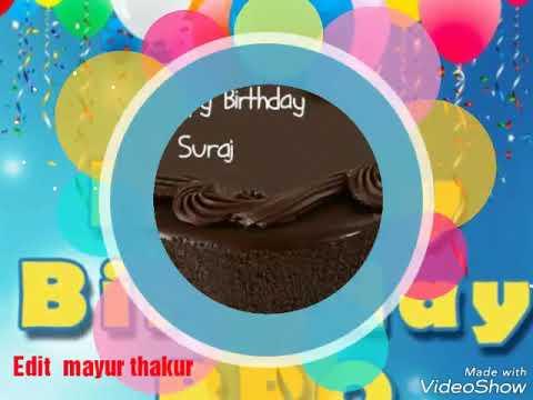 Happy Birthday Suraj