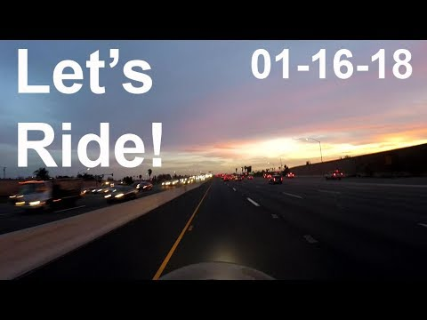 LET'S RIDE the 91 freeway at sunset- 01-16-18 - 2004 BMW R 1150 GS Adventure motovlog