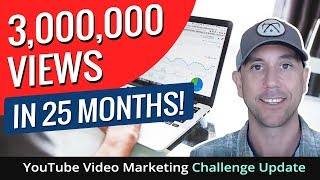 3,000,000 Views In 25 Months! YouTube Video Marketing Challenge Update