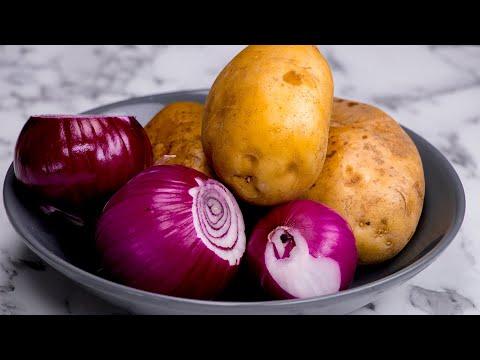 4 brambory a 3 cibule. Levné, jednoduché a rychlé!| Chutný TV