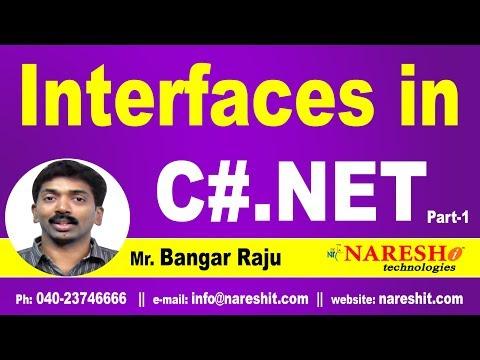 Interfaces in C# | Part 1 | C#.NET Tutorial | Mr. Bangar Raju