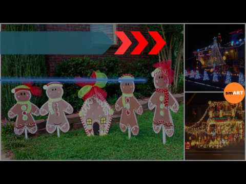 Christmas Lawn Decorations   Large Christmas Lawn Ornaments   YouTube