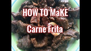 RECIPE VIDEO: HOW TO MAKE KARNE FRITA or &quotBISTEK&quot