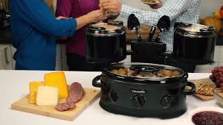Crock-Pot® Swing and Serve™ Slow Cooker- Black