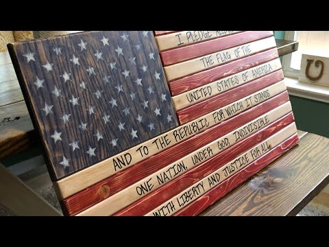 How to Build an American Flag Out of Wood (Pledge of Allegiance Flag)