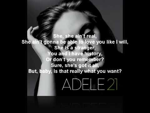 Rumor Has It - Adele (Lyrics) - YouTube