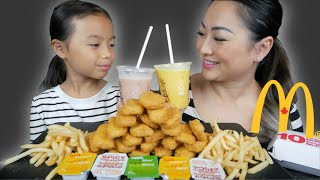 McDonald's Chicken Mcnuggets Meal *Funny Jokes Mukbang | N.E Let's Eat