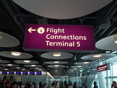 LHR bus transfer from terminal 3 to terminal 5 in london heathrow airport