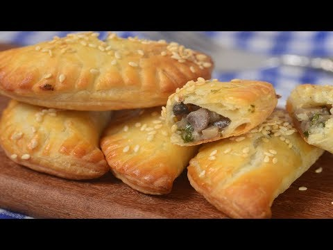 Mushroom Turnovers Recipe Demonstration - Joyofbaking.com