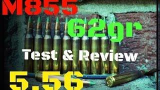 M855 5.56 NATO Green Tip Penetrator Ballistics Gel Test & Review (HD)