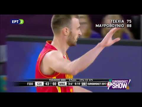 Czech Republic vs Montenegro 75-88 /Eurobasket 2017 Highlights {5-9-2017}