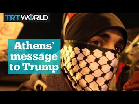 Jerusalem protests in Athens