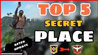 New Top 5 Hidden/Secret Place Free Fire || After Update Secret Place Free Fire -4G Gamers