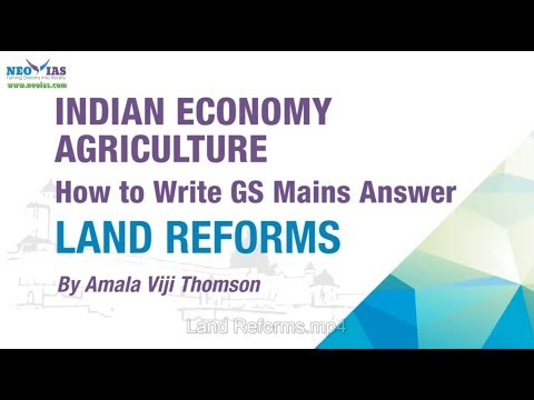 Land Reforms | How to Write GS Mains Answer ? | Indian Economy | NEO IAS
