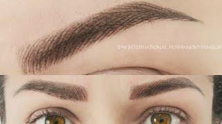 Перманентный Макияж бровей Волосковая техника 3D эффект(, 2016-01-30T17:50:59.000Z)
