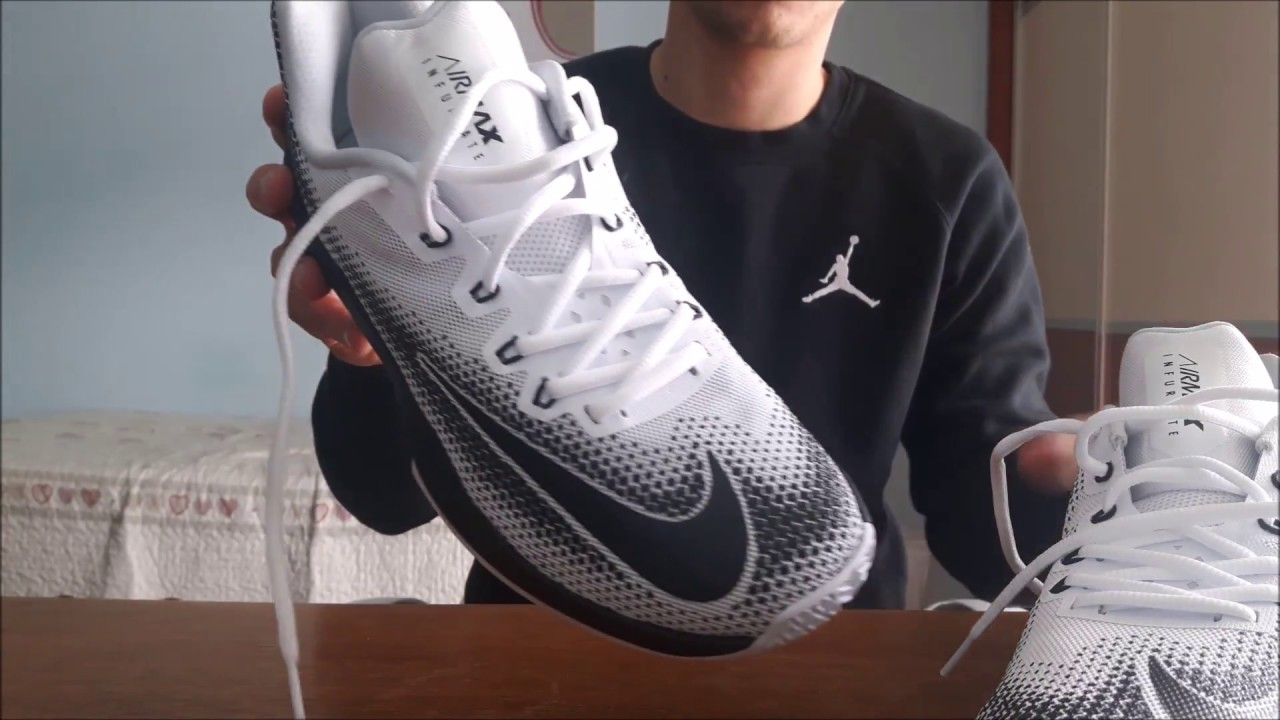ab0ba105792b8 Nike Air Max Infuriate Low White Review   On Feet - YouTube