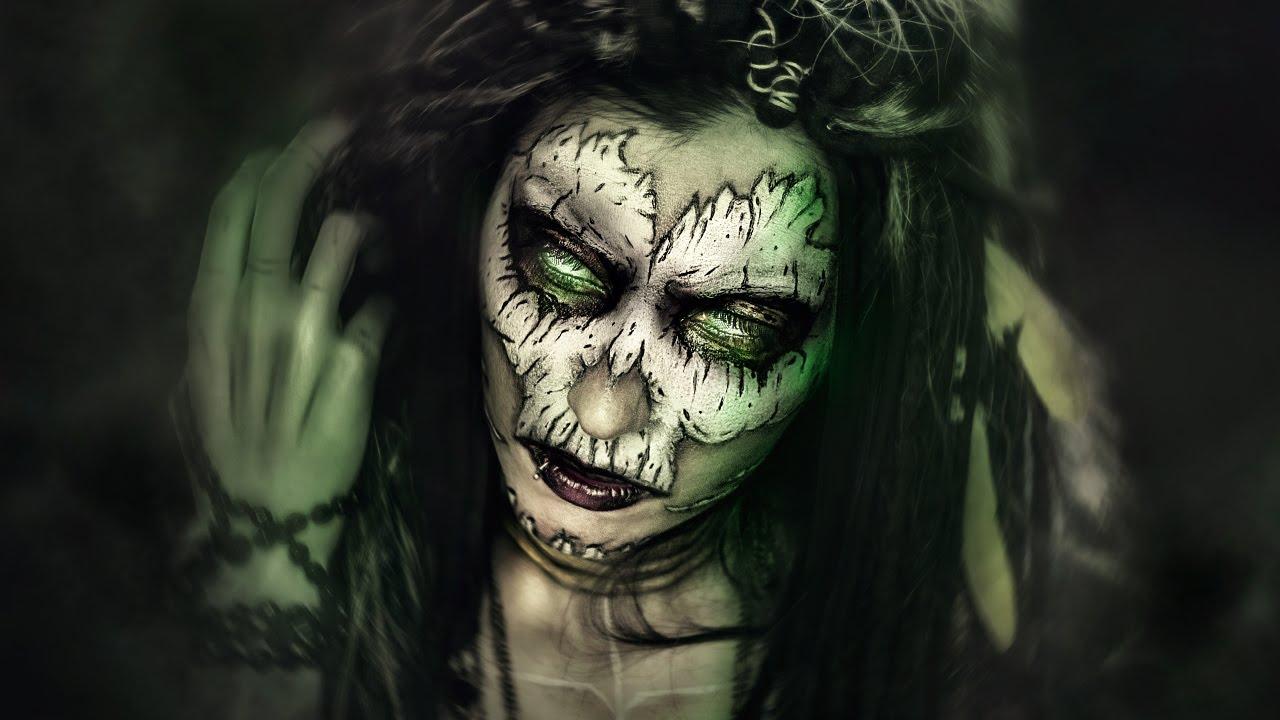 Sugar Skull Girl Wallpaper Voodoo Priestess 183 Maquillaje Halloween Makeup Fx Tutorial