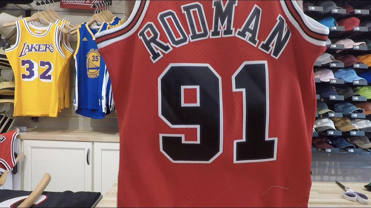 online retailer 42000 9ea54 Dennis Rodman Mitchell & Ness Swingman Jersey