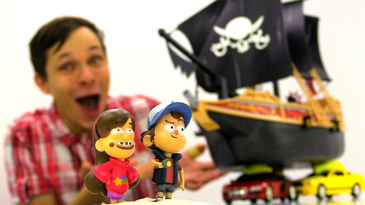 Диппер и Мэйбл из Гравити Фолз ищут Сокровища с Фёдором.