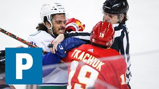 Coach Travis Green reflects on the season after 6-2 loss to Calgary Flames   The Province