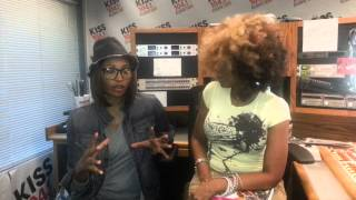 Cynthia Bailey with Sasha The Diva---Kiss 104.1 FM