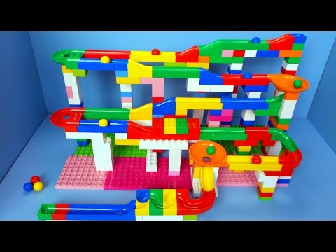 Marble Run by Hubelino Unboxing and Playing | A Fun Marble Race