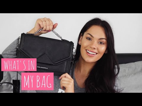 WHAT'S IN MY BAG - KARL LAGERFELD KLASSIK SHOULDERBAG | Beauty's Big Sister