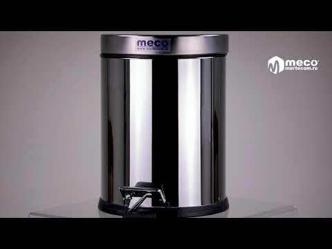 Cos de gunoi din inox lucios soft-close 5 litri Meco