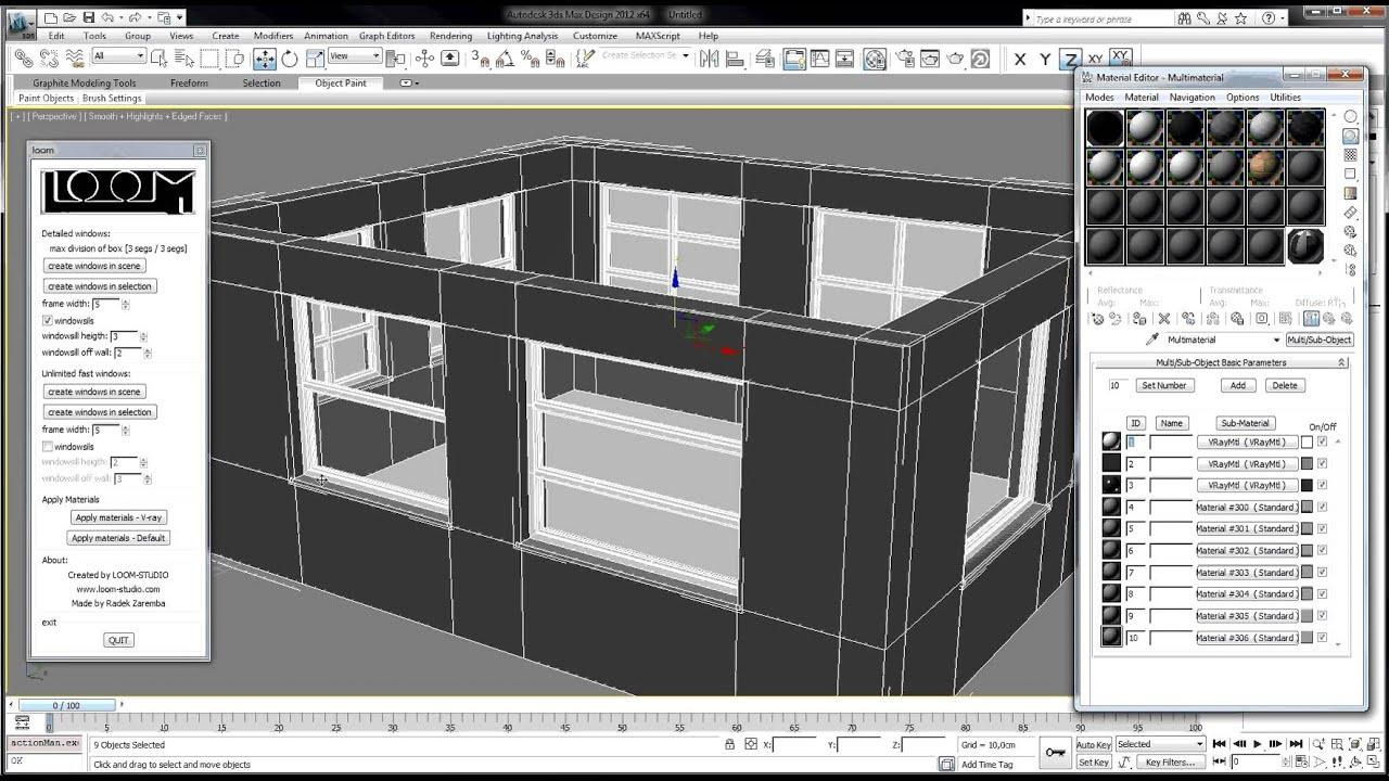 loom 3dsmax plugin for making windows