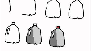 How To Draw Milk Carton / Jug Step By Step Drawing Tutorial