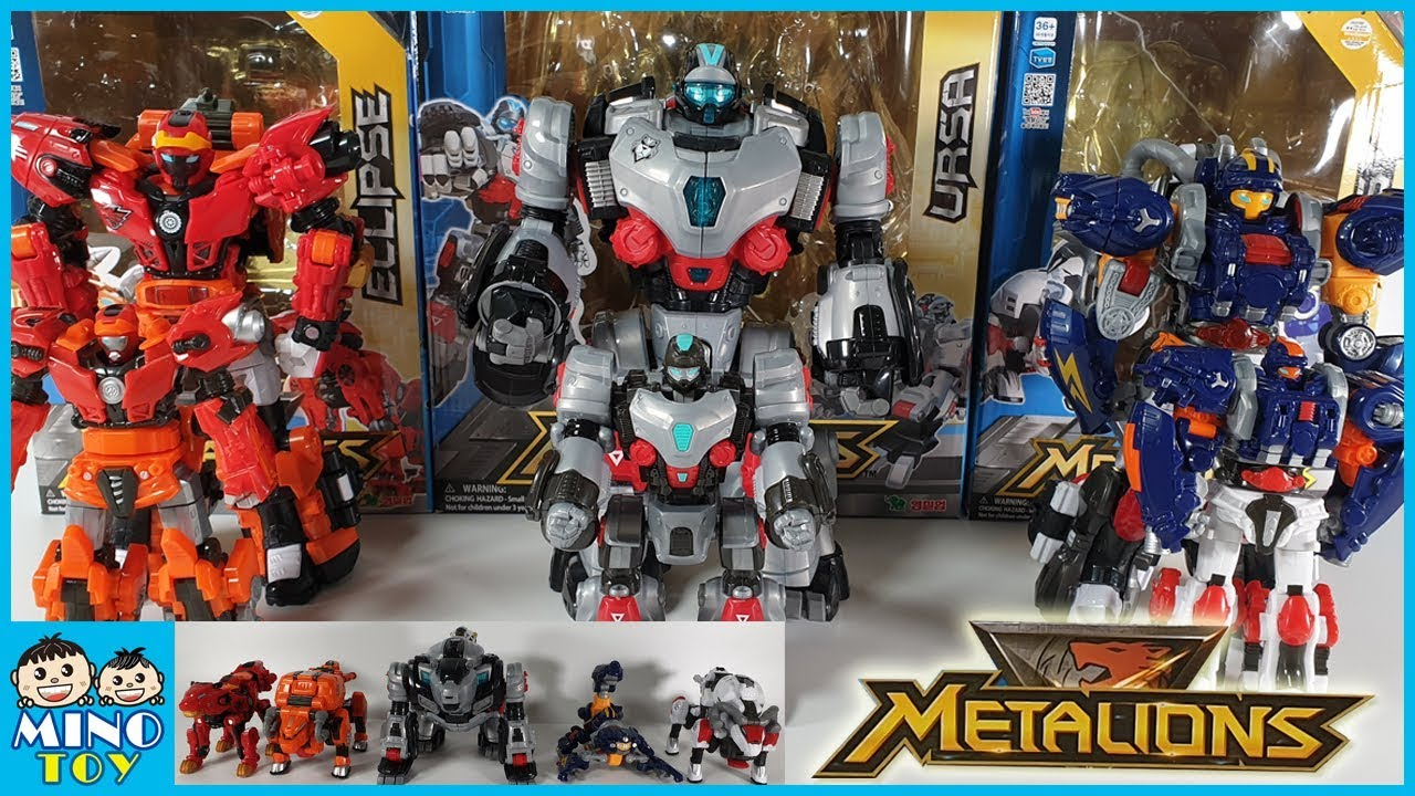 Intergration Transformer Toy Robots Full Set METALIONS LEO,SCORPIO,ARIES,TAURUS