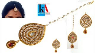 How to make maang tikka // wedding jewellery easy in 5 minutes // DIY  at home