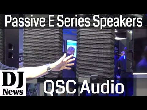 QSC Audio E Series Non-Powered Passive Speakers   Disc Jockey News