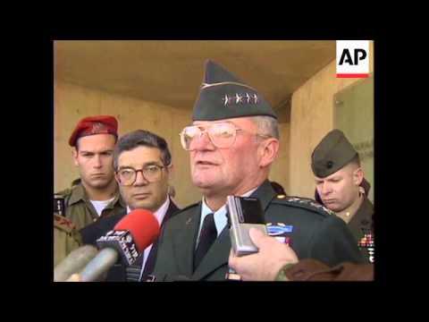 ISRAEL: US GENERAL JOHN SHALIKASHVILI /YITZHAK RABIN MEETING