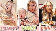 I ONLY ate CHRISTMAS FOOD for 24 HOURS!!