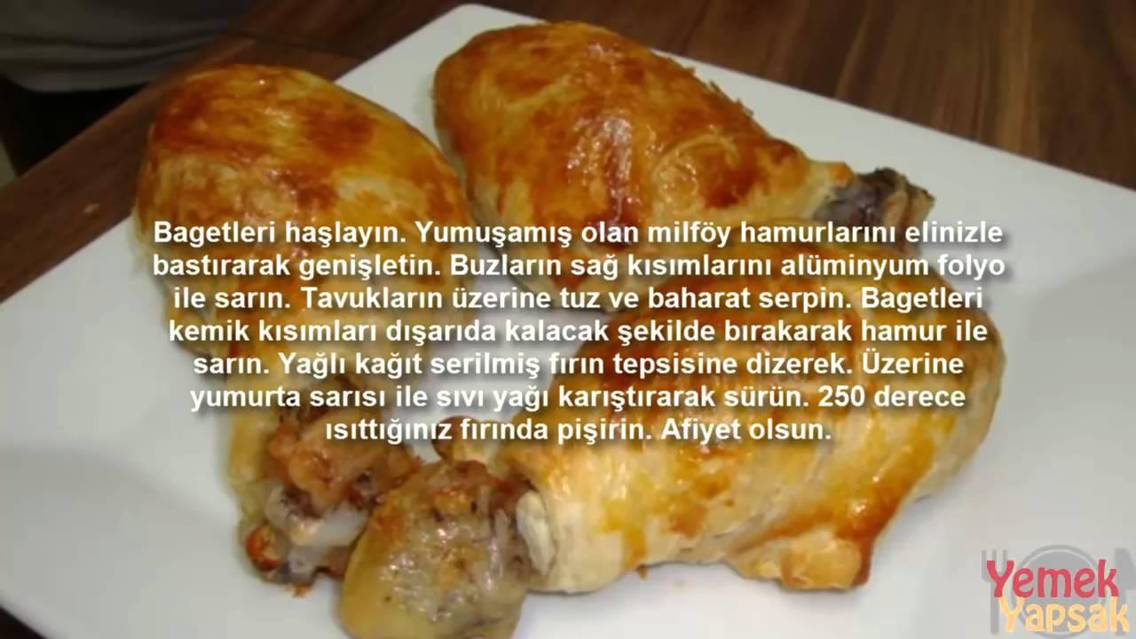 Milföye Sarılı Mantarlı Tavuk Tarifi