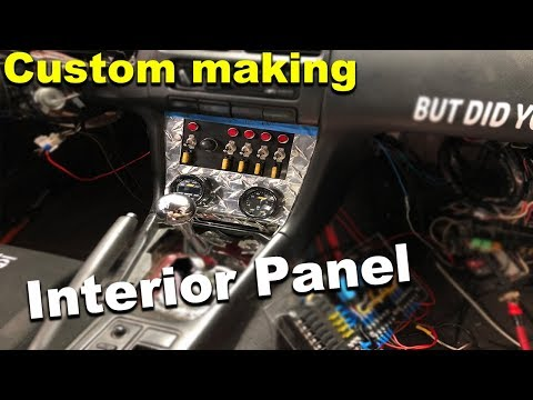 How To Make A Custom Interior Switch/gauge Panel Nissan 240SX RB25