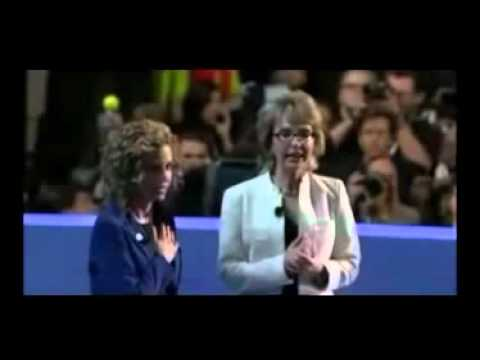 Gabby Giffords Emotional Pledge of Allegiance - 2012  Dem Nat'l Conv