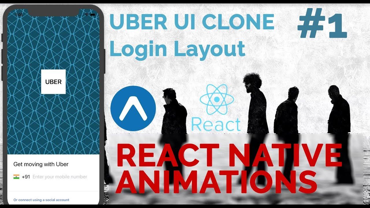 #1 UBER App UI Clone | Login Layout | React Native Animations
