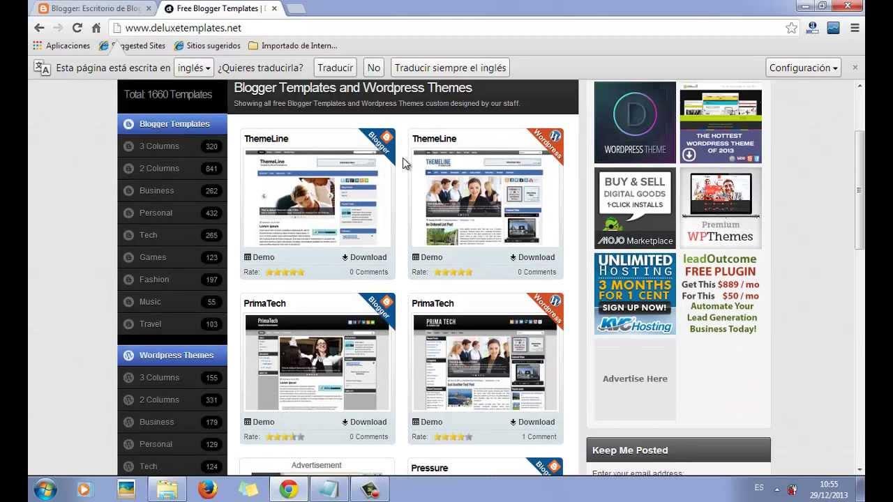 Como Descargar e Instalar Las Mejores Plantillas de Blogger Para El ...