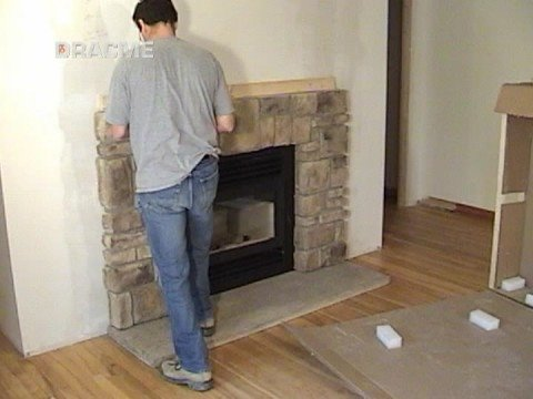 Less Than 30 Min Elk Ridge Field Stone Fireplace Mantel Installation