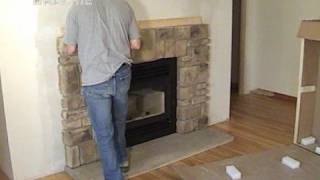Diy Elk Ridge Field Stone Fireplace Mantel Installation