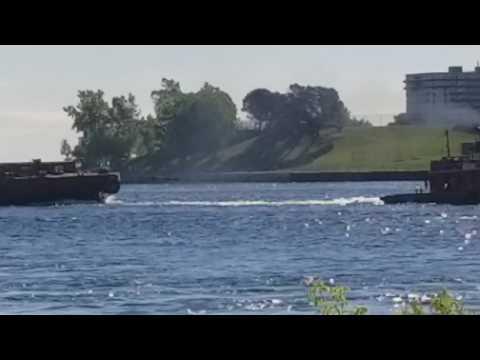 Tug and 2 barges ,port huron,mi