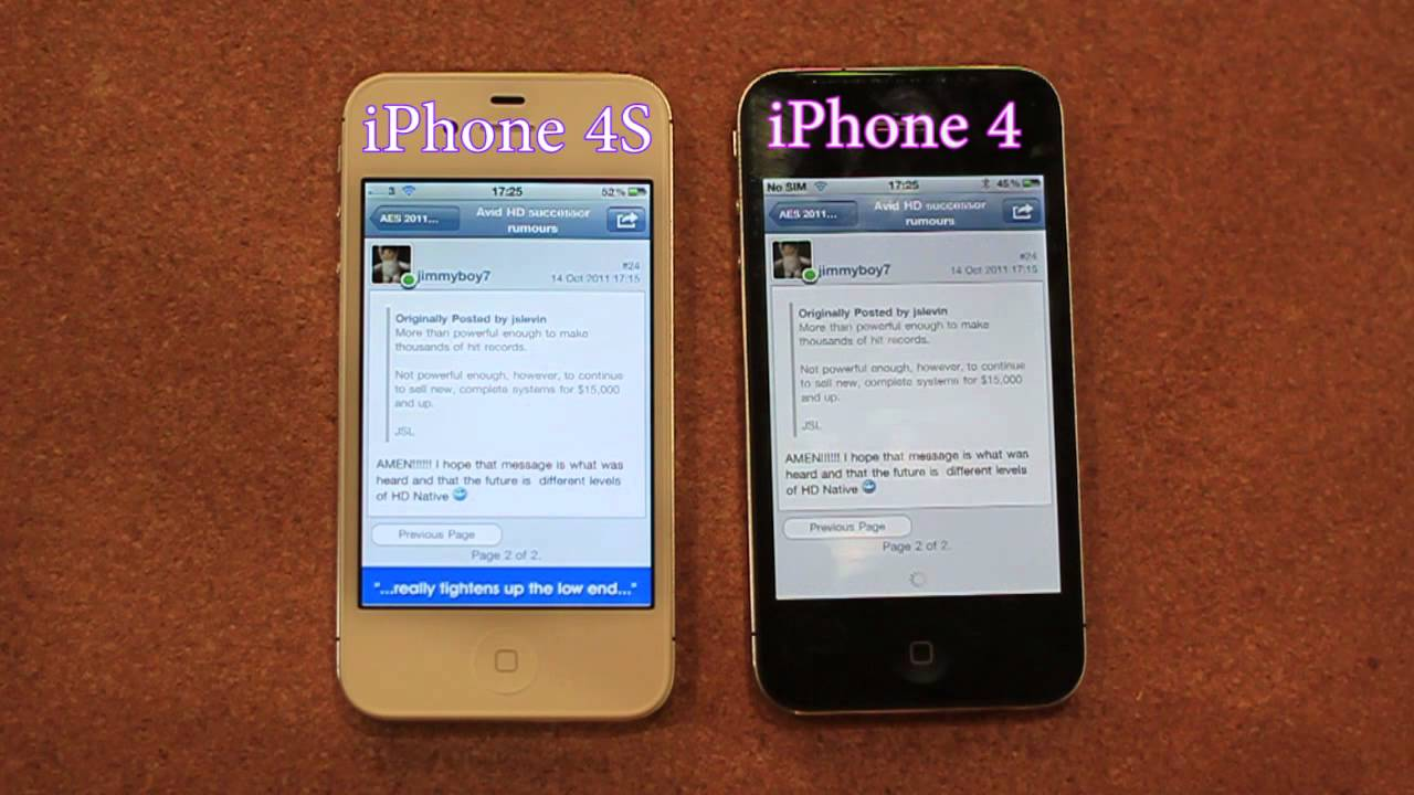 iphone 4 vs iphone 4s iphone 4s vs iphone 4 speed test 7484