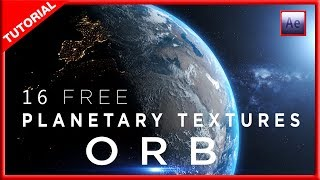 PLUGIN ORB AFTER EFFECTS TUTORIAL + 16 PLANETARY TEXTURES
