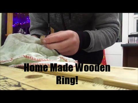 Home Made Wooden rings: From Elm Veneer Strips.
