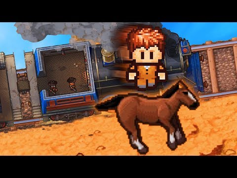 ESCAPING THE PRISON TRAIN! (The Escapists 2) |