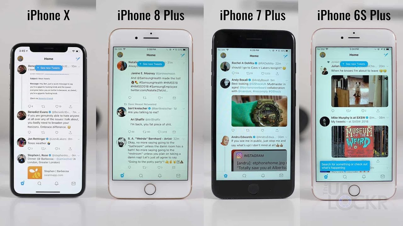 Sd Test Iphone X Vs 8 Plus 7 6s