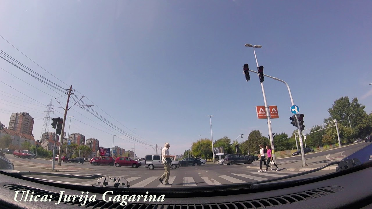 Ulica Jurija Gagarina Beograd Jurija Gagarina Street Belgrade